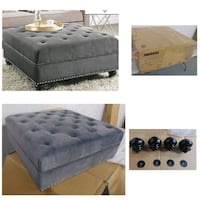 Dorel square ottoman, delivery, new  Oshawa, L1J 6A8