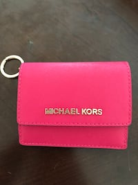 Michael Kors bright pink small wallet with keychain  Marshall, 20115