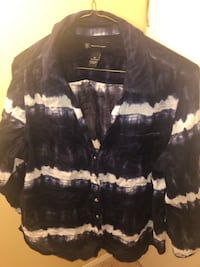 INC Navy and White Blouse McLean, 22102
