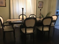 Dining table with cabinet