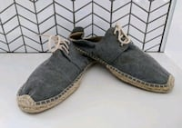 Soludos Espadrille Derby Lace Up Shoes Canvas Sz M Los Angeles, 90045