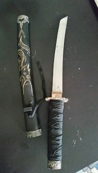 black and gray handled knife with sheath Edmonton, T5W 1G6