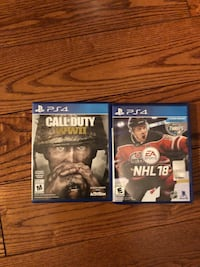 NHL 18 and Call of Duty WWII