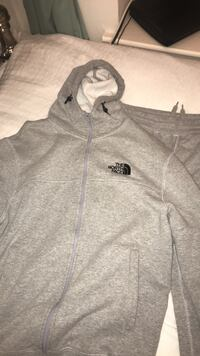 gray The North Face zip-up jacket Hounslow, TW3 2HQ
