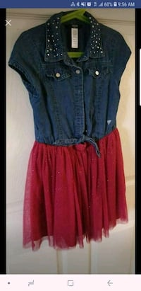 Girl blue and red dress size 10 2160 mi