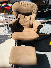 Nursing/rocking chair with rocking ottoman