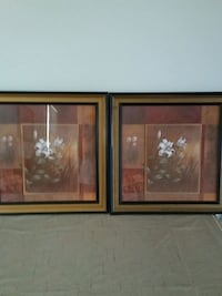 two brown wooden framed painting of flowers Westminster, 21158