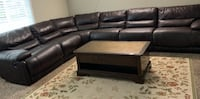 Sectional Leather Sofa 6 Piece,3 Recliners