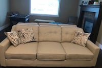 "2 beige fabric sofas (identical) Great condition  Aprox 83"" wide Abbotsford, V4X"