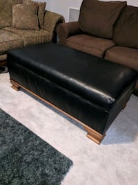 Big bonded leather ottoman with storage Independence