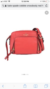 Red leather kate spade cross-body bag
