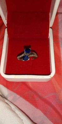 silver and blue gemstone ring in box San Jose, 95112