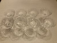 Waterford Crystal Champagne Tall/Sherbert Glasses-Alana Pattern Silver Spring, 20906