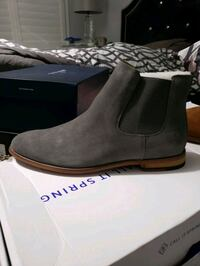 Men's Suede WATER PROOF Grey Chelsea Boots
