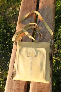 FOSSIL Leather Crossbody Bag Maple Ridge