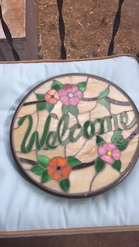"Welcome step stone stain glass 13"" Mechanicsburg, 17055"