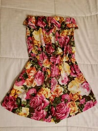 women's pink and green floral sleeveless dress Ontario, 91762