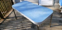 blue and white wooden table St. Clair Shores, 48082