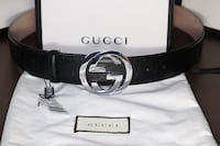 New Black Gucci Belt Burke, 22015