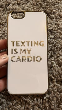 White texting is my cardio iphone case Ramsey, 55303