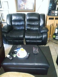 black leather recliner sofa chair North Port, 34287