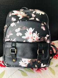 PU leather floral backpack  Calgary, T3N 0P1