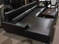 New Black Leather Sectional BNIB VANCOUVER
