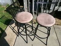 two black metal framed brown padded chairs Baltimore, 21225