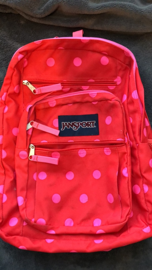 Used Red and white jansport backpack for sale in Fairfield - letgo 1020d9aafe146