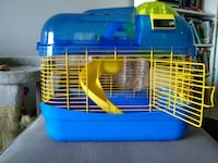 blue and yellow pet cage Toronto, M5L 1G3