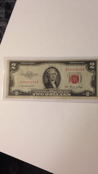 1953 two dollar United States Note Winchester, 22602