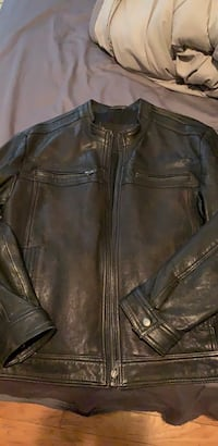 Copper brown leather jacket