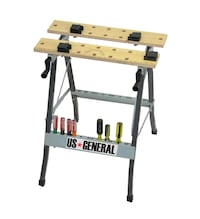 FOLDING CLAMPING TABLE WITH MOVABLE PEGS