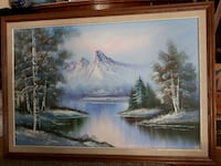 brown wooden framed painting of house near body of water Calgary, T3B 2K6