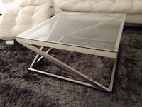 Silver and Glass Coffee Table Miami