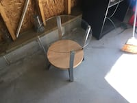 Chrome wood and glass table..has a nice 70's look to it Chesterfield, 23832