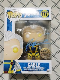 Cable funko pop signed by Rob Liefield