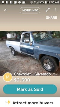 blue Chevrolet Silverado single cab pickup truck screenshot Burlington, 27217