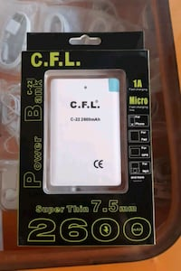 Powerbank 2.600 mah ince