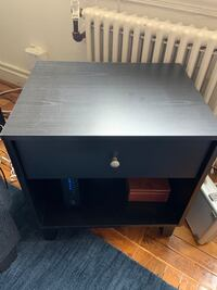 Black wood side table/night stand