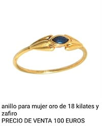 Anillo oro 18 kilates zafiro natural. Dos Hermanas, 41701