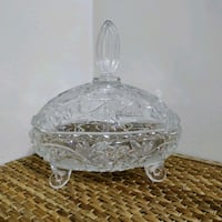 Heavy crystal large candy bowl / center piece Toronto, M2J 2C2