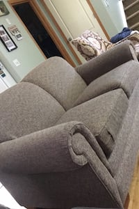 Lazy Boy love seat plus printed accent chair