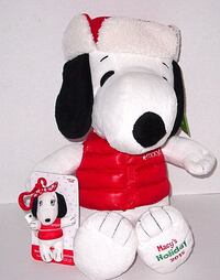 NEW w Tags Snoopy Macy's 2015 Plush with Bonus Sister Belle Backpack Clip Plush Doll JOLIET