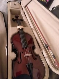 Violin with bow case, strap for case, and rosin  Springfield, 65807