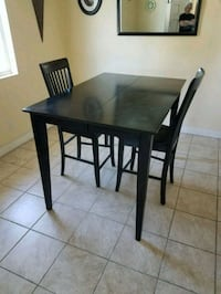 rectangular brown wooden table with four chairs dining set Westminster, 92683