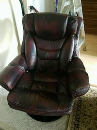 black leather padded rolling armchair Sterling, 20164