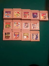 assorted-color game cartridge lot 519 km