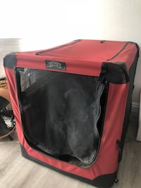 Red and black pet carrier Carlsbad, 92008
