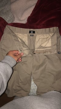 brown DC Shoes board shorts